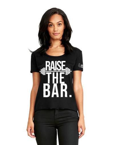 Raise The Bar Ladies Scoop Neck Tee
