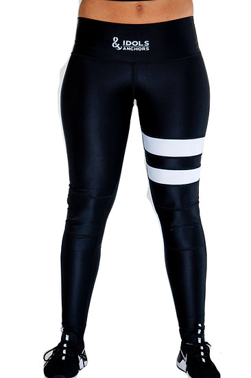 Groundwork Thigh Stripe Leggings with neoprene knee support