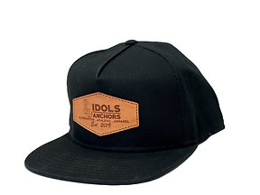 Classic Leather Patch Logo Snapback Hat
