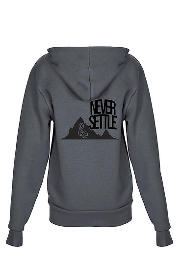 Never Settle Youth Zip up Hoody Heavy Metal