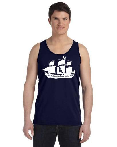 A Smooth Sea Mens Tank Navy