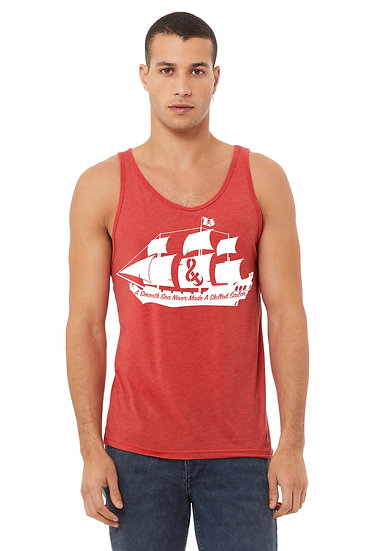 A Smooth Sea Mens Tank Light Heather Red