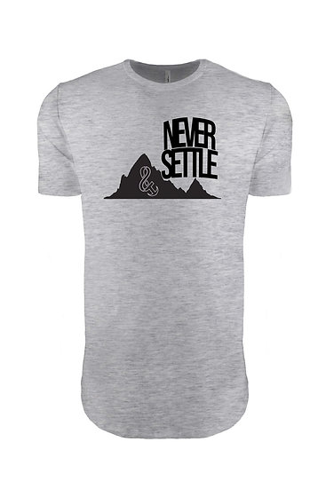 Never Settle Tee Heather Gray