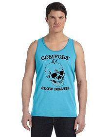 Comfort is a Slow Death Mens Tan Aqua