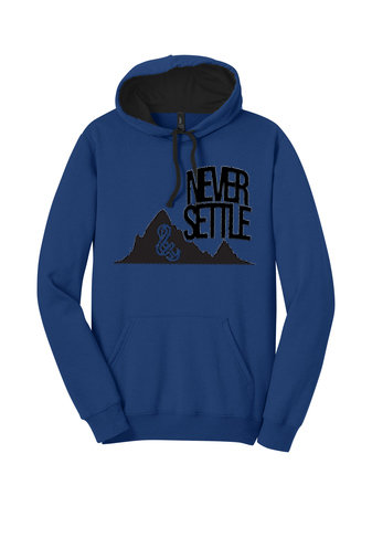 Never Settle Hoodie Blue