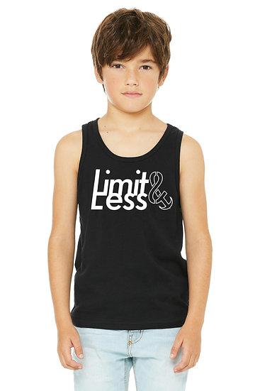 Limit Less Unisex Youth Tank Black