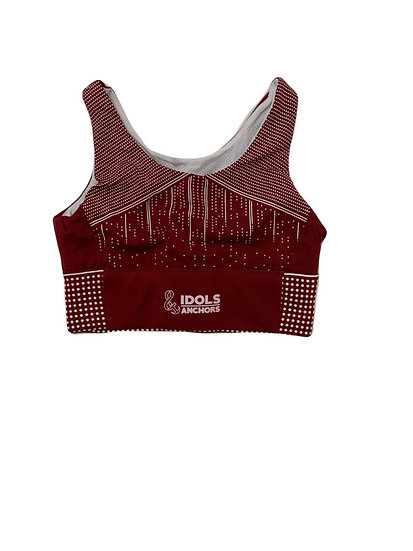Skyscape Sports Bra -Wine