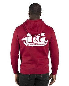 A Smooth Sea  Unisex Pullover Hooded Sweatshirt Heather Burgundy