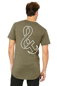 """The OG"" Logo Long Body Tee Heather Olive"