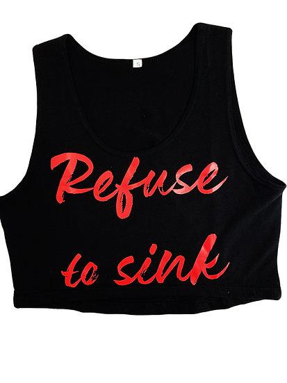 Refuse to Sink croptop Red