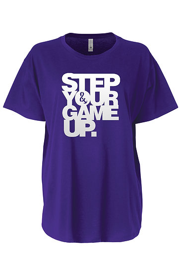 Step Your Game Up Flow Tee Purple