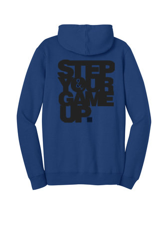 Step Your Game Up Hoodie Blue