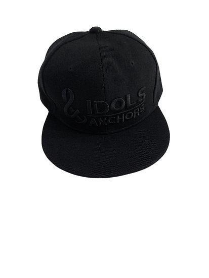 Refuse to sink flat brim SnapBack black on black