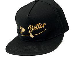 Do Better Snapback Hat Metallic Gold