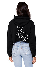 "The ""OG"" Women's Fleece Crop Hoodie Black"