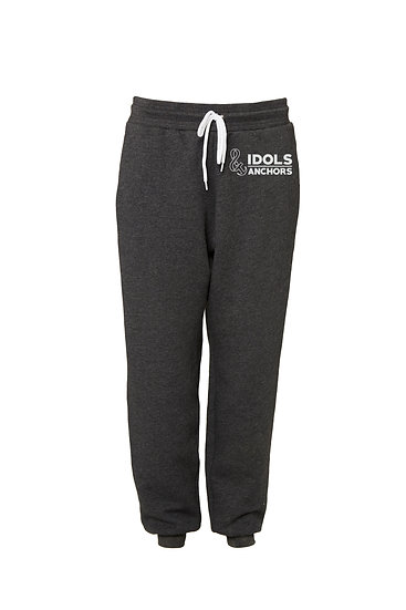 Unisex Joggers with Logo Dark Heather Gray