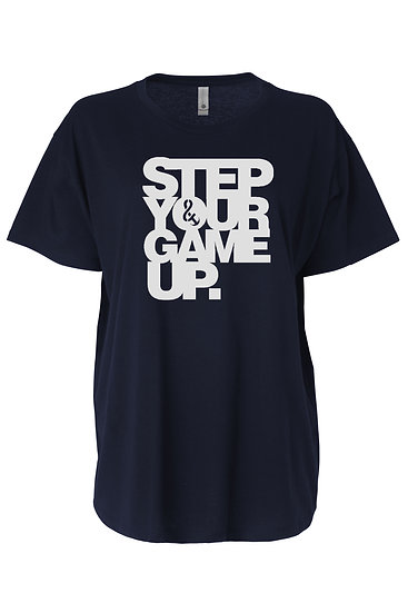 Step Your Game Up Flow Tee Navy