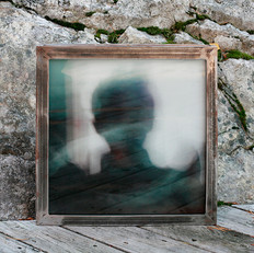 Lightbox in raw iron with interchangeable signed and numbered art photo on 4 mm tempered glass, 40x40 cm. Multiple use and reuse is the idea behind, you can put the tabletop from the largest table in the lightbox, and put the picture from the lightbox as a tabletop. Comes with 4f remote control with various color programs.