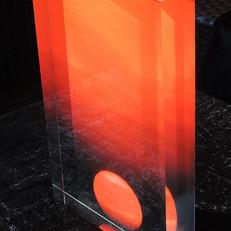 Nirvana, acrylic block, 20x30x4 cm