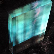 Cry In The Wood, acrylic block 20x30x4 cm