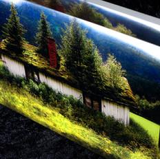 Natural Recycling, acrylic block 20x30x4 cm