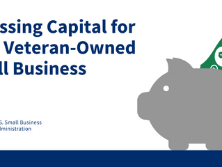 Access to Capital Resources for Veteran Entrepreneurs