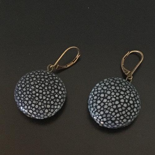 Galuchat Earrings 3 cm