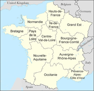 Map 13 Regions of France