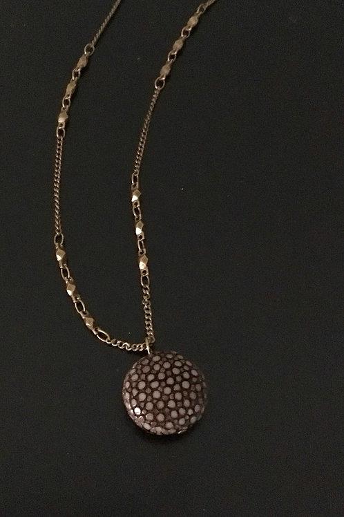 Short Galuchat Necklace 2cm