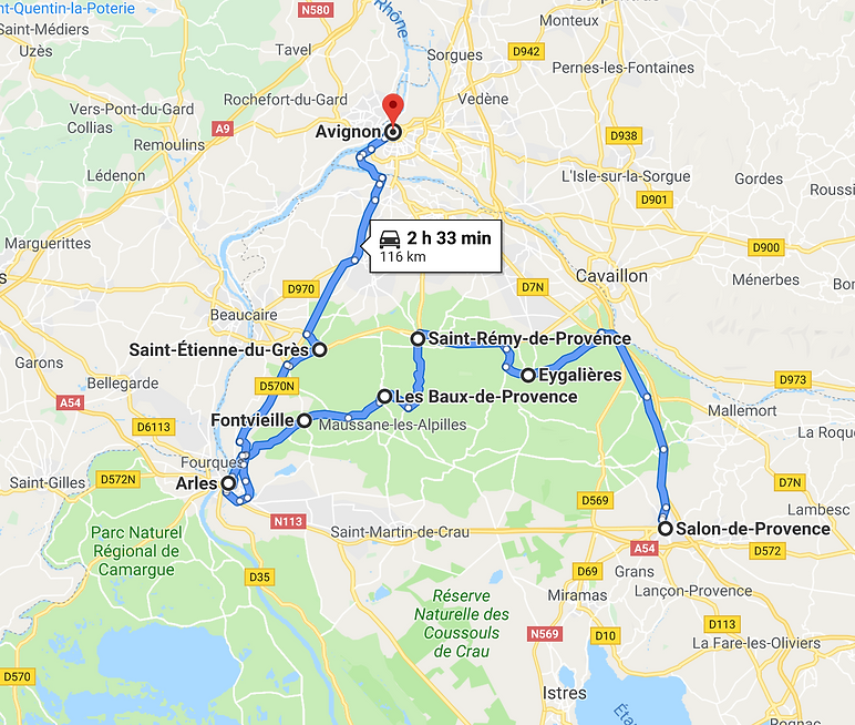 Itinerary Les Alpilles Provence France