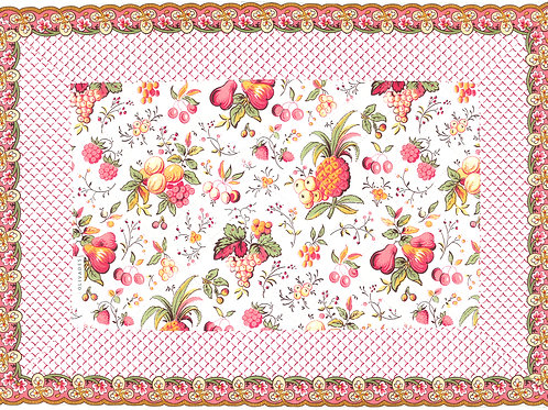 """Bordered Placemats """"Fruchie"""""""