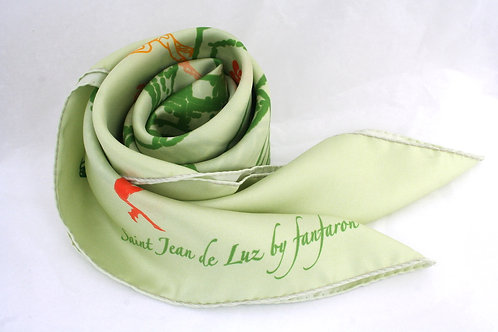 Silk Scarf ST JEAN DE LUZ - Collection Pays Basque