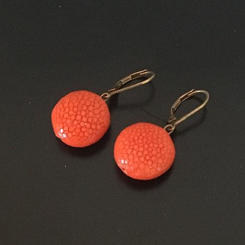 Galuchat Earrings 2 cm