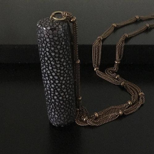 Cylinder Galuchat Necklace