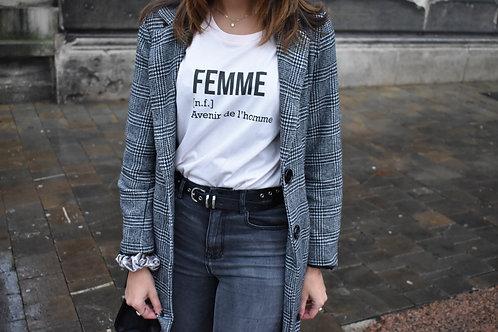 Short Sleeve t-shirt:  Femme:  Avenir de l'Homme