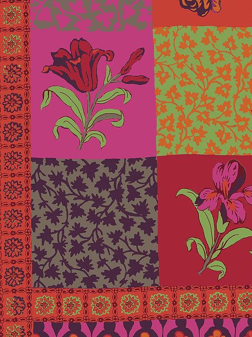"Wool/Silk Scarf ""Magali"" Rouge"
