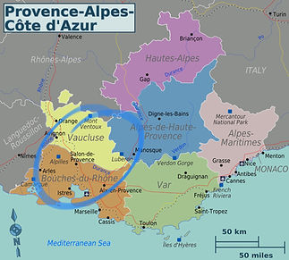 Map of Provence France