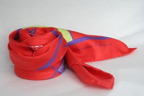 Silk Scarf MASCARON - Bordeaux Collection