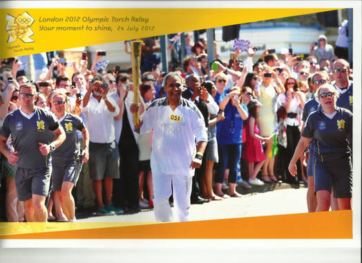 Gurpal Virdi in the Olympic Torch Relay
