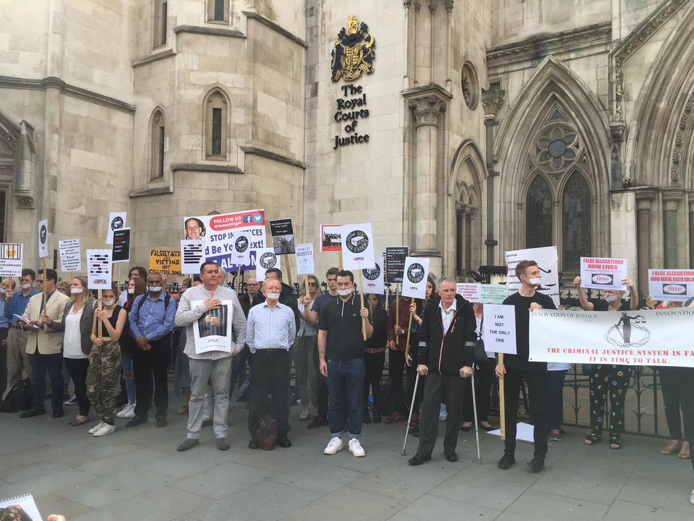 Vigil outside the Royal Courts of Justice