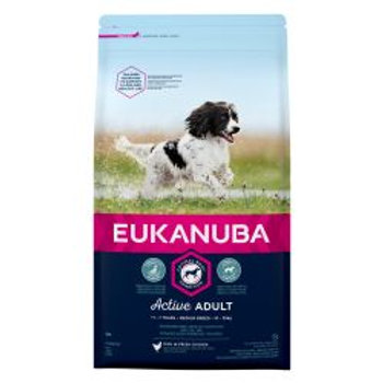 EUKANUBA Active Adult Medium Breed Rich In Fresh Chicken