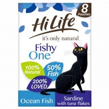 HiLife It's Only Natural - The Fishy One In Jelly 8 x 70g Multipack
