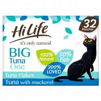 HiLife It's Only Natural - The Big Tuna One In Jelly 32 x 70g Multipack