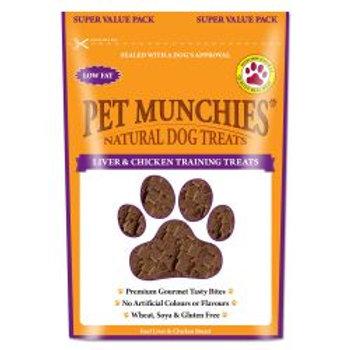 Pet Munchies Natural Liver & Chicken  Training Treats Super Value Pack