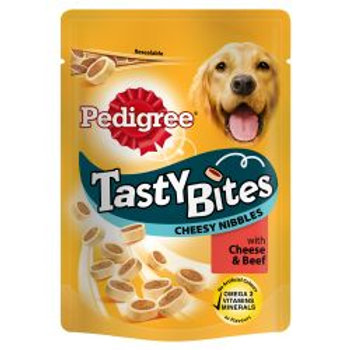 Pedigree Tasty Bites Cheesy Nibbles with Cheese & Beef