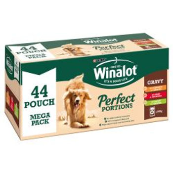 Winalot Pouch Perfect Portions Chicken/Lamb/Beef in Gravy 44 pack