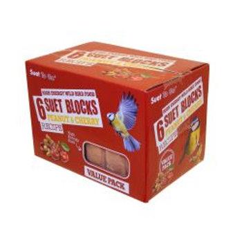 Suet To Go Peanut & Cherry Block Value 6 Pack