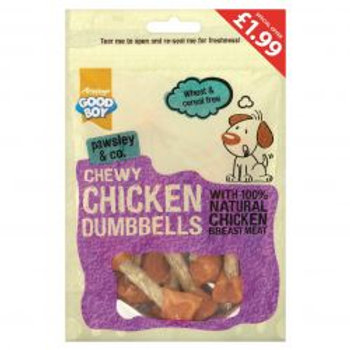 Good Boy Chewy Chicken Dumbbells Pm £1.99