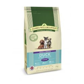 James Wellbeloved Dog Senior Small Breed Duck & Rice