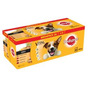 Pedigree Pouch Mixed Selection in Gravy 40/36 pack